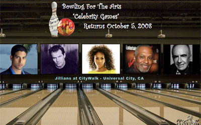 Bowling For The Arts Celebrity Games Fundraiser Flash Promo