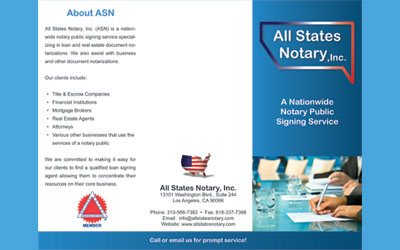 All States Notary Brochure