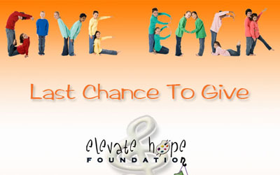 Elevate Hope Foundation Year End Fundraising Email Campaign