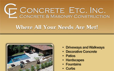 Concrete Etc Flyer