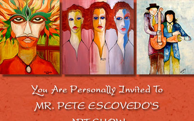 Pete Escovedo Art Show Email Flyer