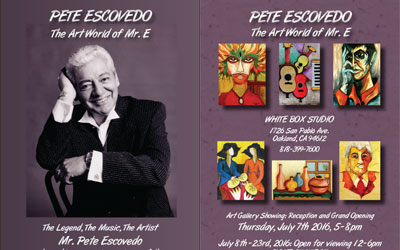 Pete Escovedo Art Show Postcard Flyer