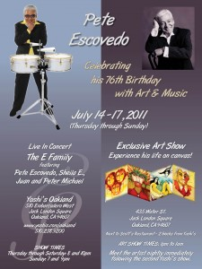 Pete Escovedo 76th Birthday Celebration Poster