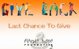 Elevate Hope Foundation Year-End Fundraising Email Thumbnail