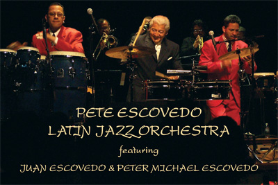 Pete Escovedo Latin Jazz Orchestra Live At Mama Juana's Postcard Flyer