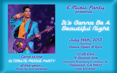 Prince Party Postcard Flyer