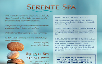 Serente Spa Postcard Flyer