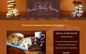 Bonnies Bakery Boutique Website Thumbnail