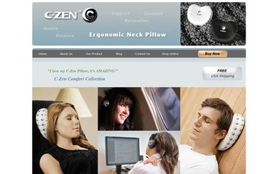 C-Zen Ergonomic Neck Pillow